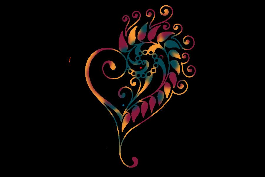 Icona illustrata di un cuore decorato.