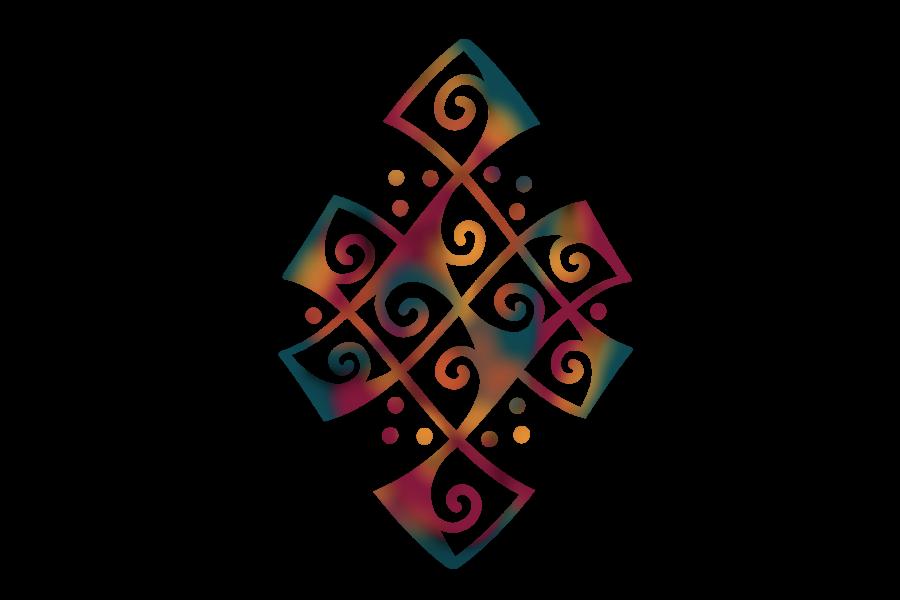 Icona illustrata di un intreccio celtico.