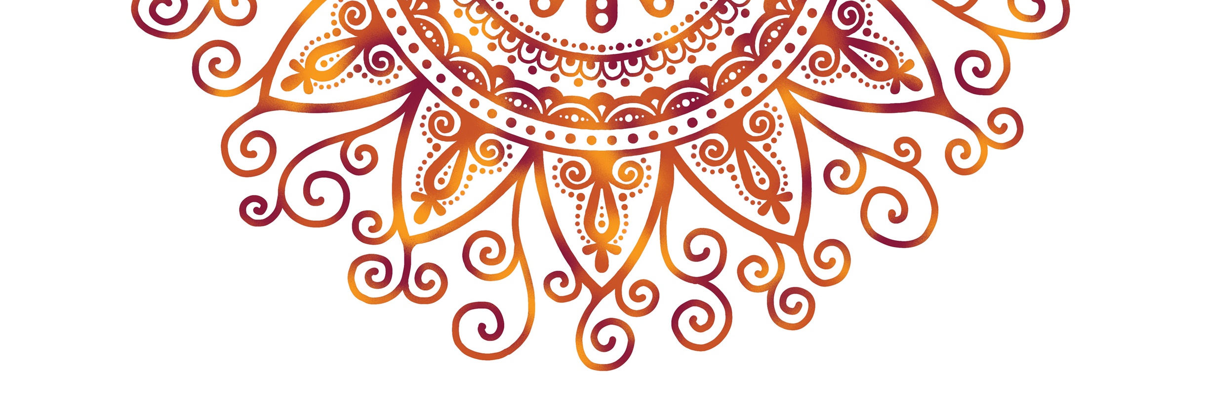 Mandala disegnato a mano.